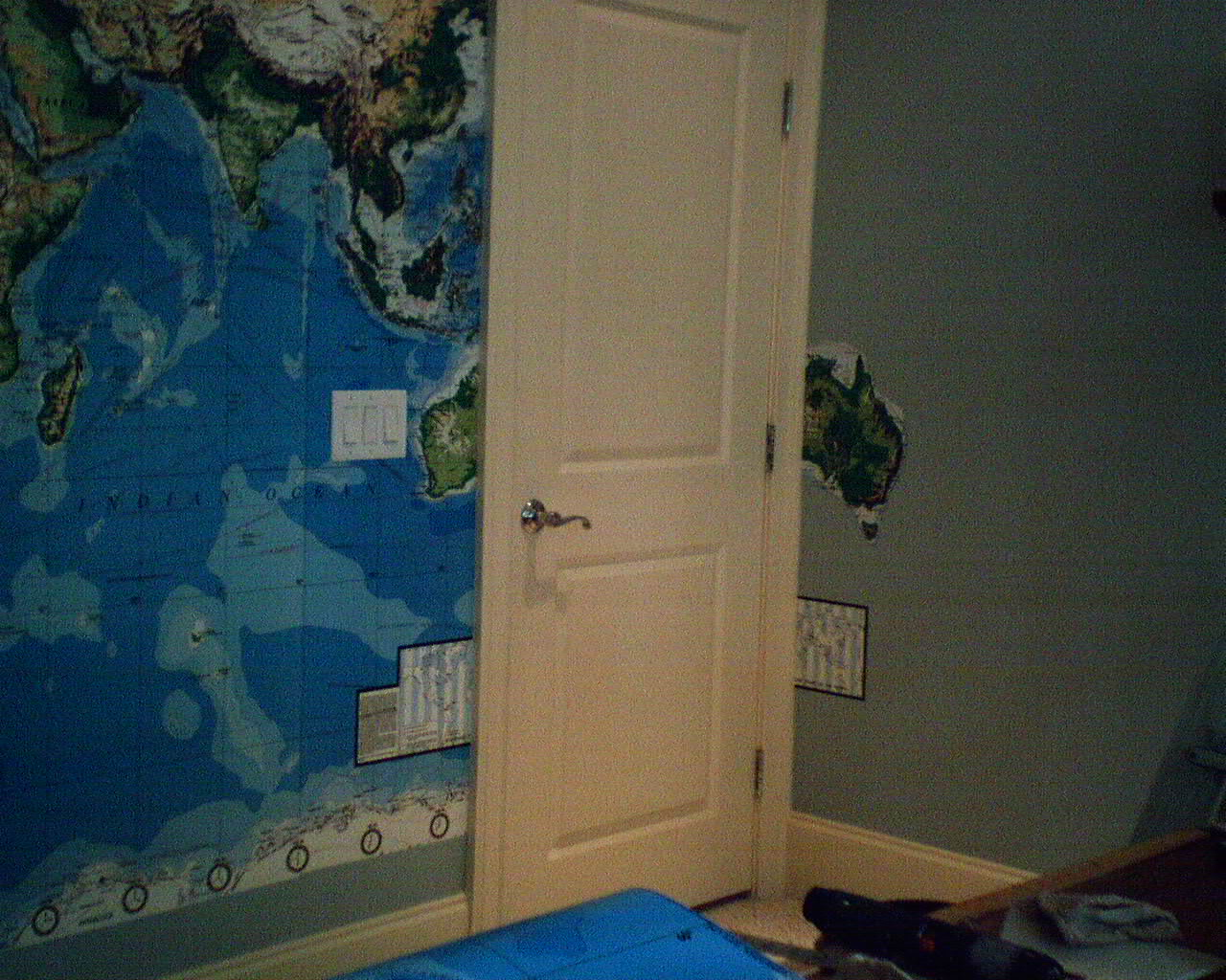 Pottery barn wallpaperladys blog as this world map mural worked its way around the wall australia got cut off by the door gumiabroncs Gallery