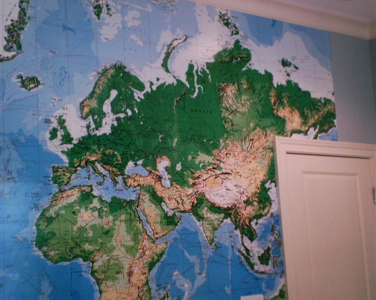 World map mural keeping australia on the planet for Australian mural