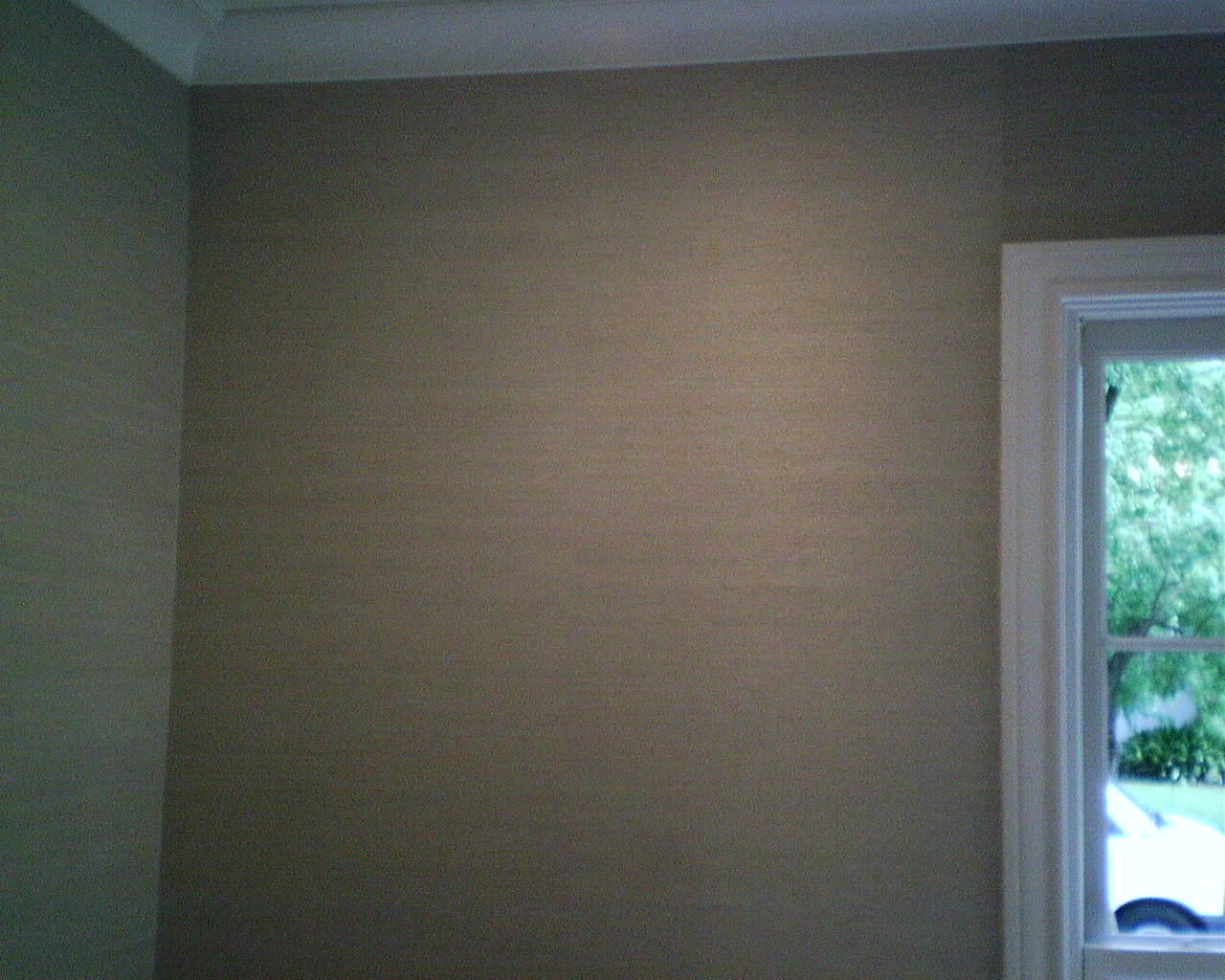 Painting over grasscloth wallpaper - Digital Image
