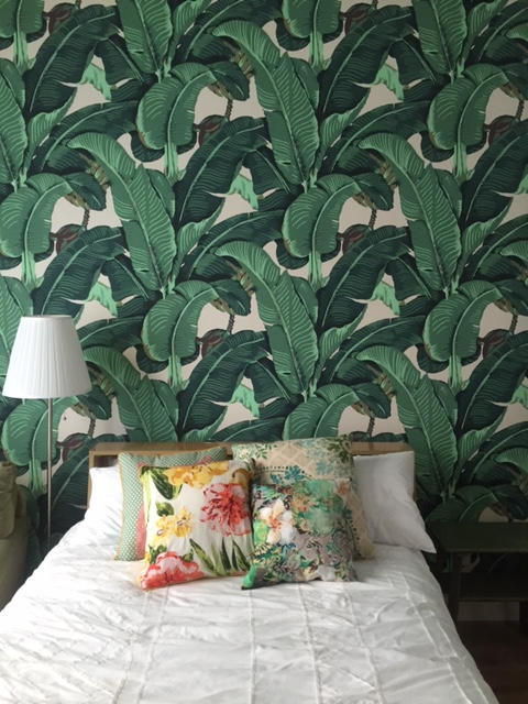 This Martinique French Island In The Caribbean Wallpaper Pattern Is Exact Same As Was Used 40s Beverly Hills Hotel And On TV