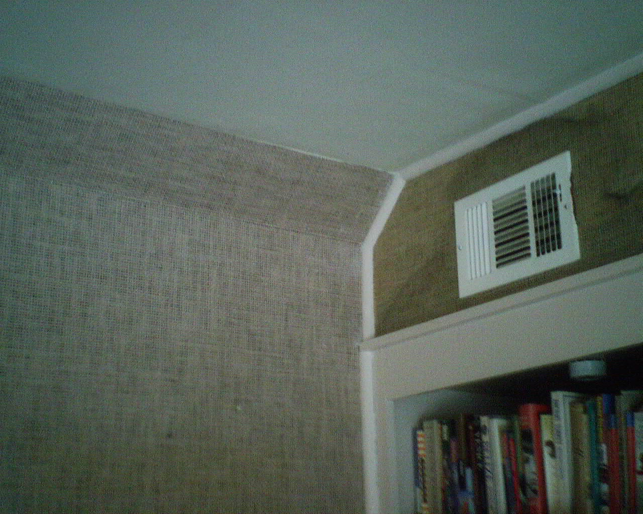 Painting over grasscloth wallpaper - Grasscloth Wallpaper Fading Over Time