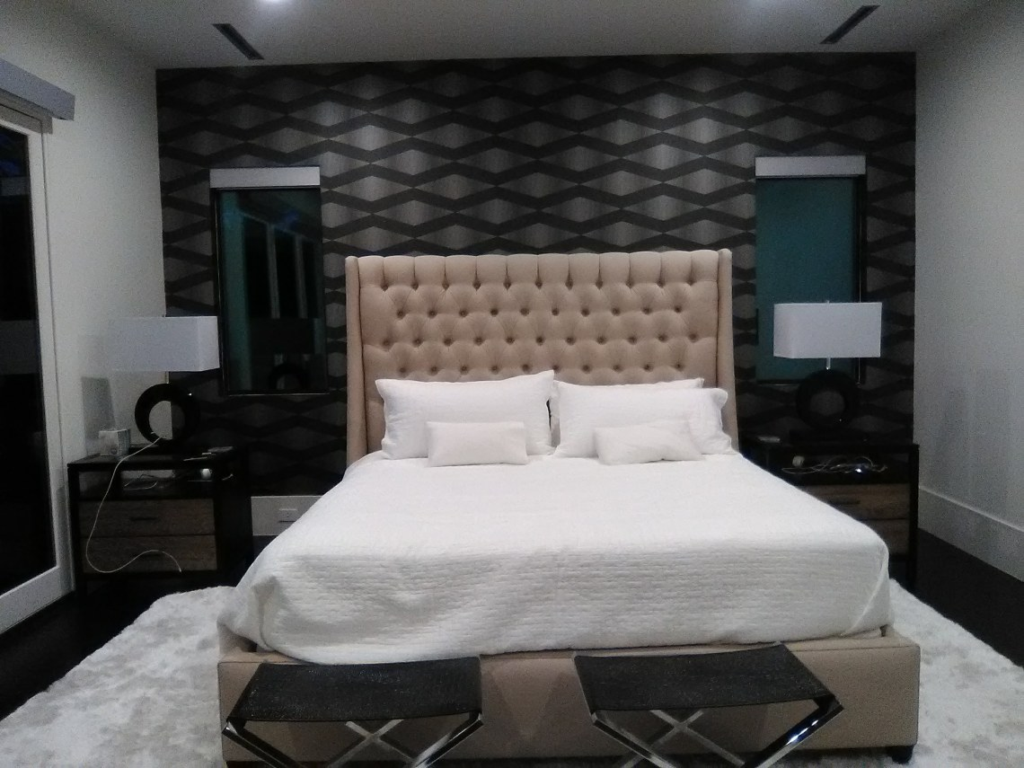 Modern Master Bedroom Accent Wall The Wallpaper Lady S Blog